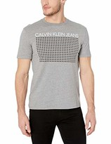 Calvin Klein Men's Short Sleeve Texture Logo Print Crew Neck T-Shirt