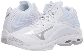 Mizuno Wave Lightning Z6 Mid (White) Women's Volleyball Shoes
