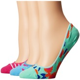 Kate Spade Tangier Floral and Stripes 3-Pack Liner Women's Low Cut Socks Shoes