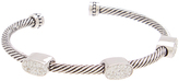 Pavé Crystal & Silver-Plated Oval Rope Cuff