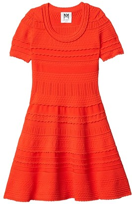 Milly Textured Tech Dress (Big Kids) (Tomato) Girl's Dress