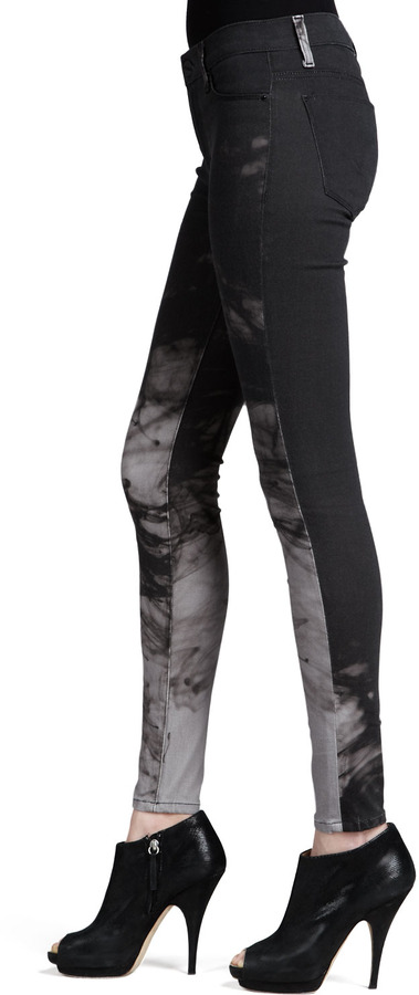 Hudson Nico Printed Mid-Rise Skinny Pants