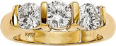 MODERN BRIDE 1 1/2 CT. T.W. Diamond 14K Yellow Gold 3-Stone Ring