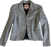 Juicy Couture Grey Wool Coat for Women