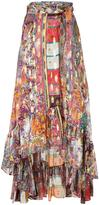 Etro ruffled wrap skirt