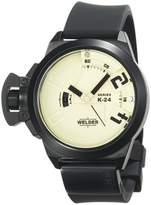 Welder Men's K24-3101 K24 Analog Black Ion-Plated Stainless Steel Round Watch