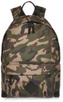 River Island MensGreen camo backpack