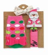 Mud Pie Pink Santa Sock and Pacy Set