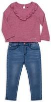 Hudson Girls' Ruffle-Trim Top & Jeans Set - Baby
