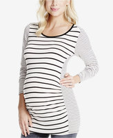 Jessica Simpson Maternity Striped Long Sleeve Top