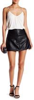 Jolt Faux Leather Mini Skirt