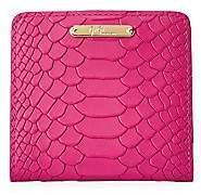 GiGi New York Women's Mini Foldover Python-Embossed Leather Wallet