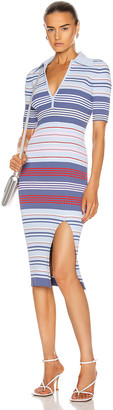Altuzarra Barkers Knit Midi Dress in Americana Multi Stripe | FWRD