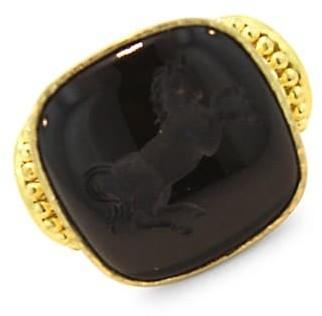 Elizabeth Locke Stone Intaglio Onyx 'Rearing Horse' Ring