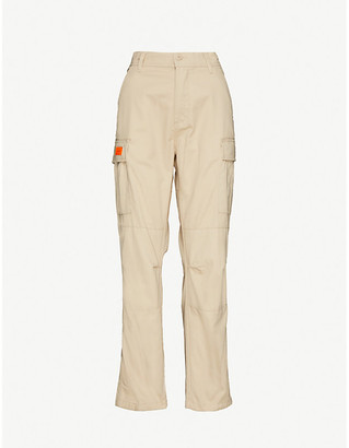 Obey Combat logo-embellished cotton-blend trousers