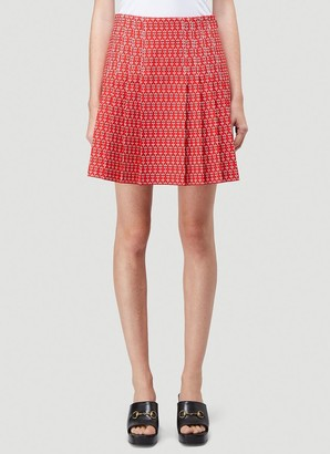 Gucci Daisy Jacquard Pleated Skirt