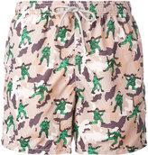 MC2 Saint Barth military print swim shorts - men - Polyamide/Polyester/Spandex/Elastane - S