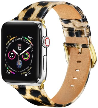 Posh Tech Patent Leather Band for 38mm/40mm Apple Watch Series 1, 2, 3, 4, 5 - Leopard