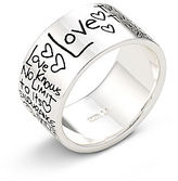 JCPenney FINE JEWELRY Sterling Silver Love Graffiti Ring