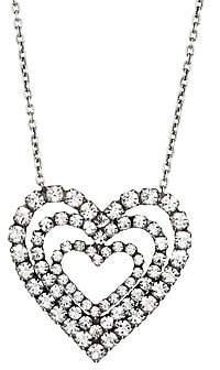 Dannijo Women's Cheri Triple-Layer Heart Pendant Necklace