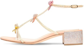 Rene Caovilla 40mm Embellished Satin Sandals