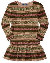 Ralph Lauren Fair Isle Cotton Fleece Dress