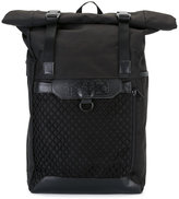Kokon To Zai scroll top backpack - unisex - Leather/Nylon - One Size