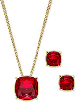 Givenchy Colored Crystal Pendant Necklace and Earrings Set