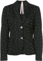Marc Cain micro star print blazer