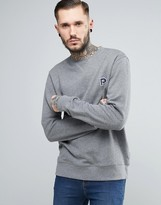 Penfield Redlands Crew Sweat Small P in Gray Marl