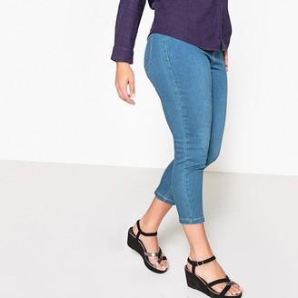 """Castaluna Plus Size Cropped Jeans, Length 24.5"""""""