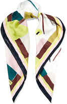 Emilio Pucci Printed silk-satin twill scarf