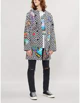Amiri Sticker-print chequered twill parka jacket