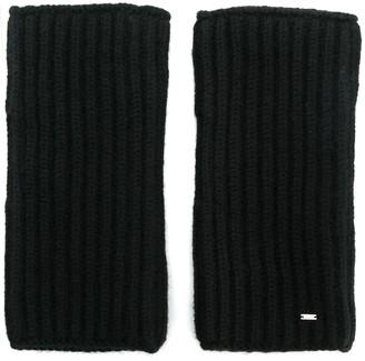 Saint Laurent Fingerless Knitted Gloves