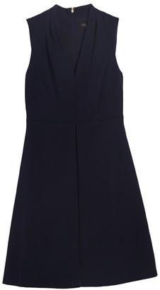 DKNY V-Neck Flare Dress