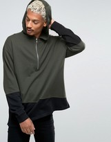 Asos Oversized Hoodie With Cut & Sew