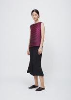 Issey Miyake pink radial pleats top
