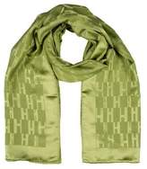 Hermes Façonnée Grand H Silk Wool Stole