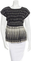 Anna Sui Short Sleeve Knitted Top