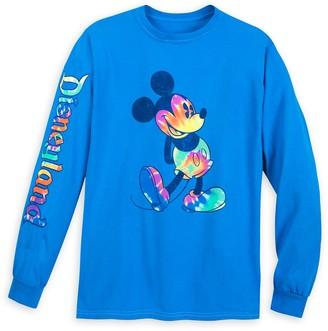 Disney Mickey Mouse Long Sleeve Tie-Dye Print T-Shirt for Adults Disneyland