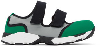 Marni Green and Grey Strappy Sneakers