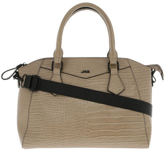 Jag Hazel Double-Handle Tote Bag in Taupe