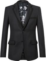 Alexander McQueen Navy Passementerie-Trimmed Wool-Twill Suit Jacket