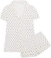 Eberjey Sleep Chic Printed Jersey Pajama Set - White