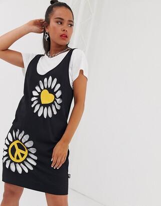 Love Moschino double layer t-shirt dress-Black