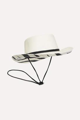 Sensi Studio - Dumont Zebra-print Toquilla Straw Panama Hat - White