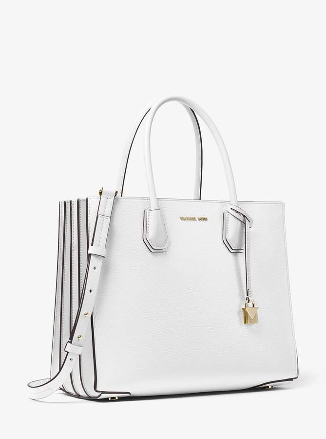 d7327cdafbbb Michael Kors Leather Bag With Side Pocket Handbag - ShopStyle