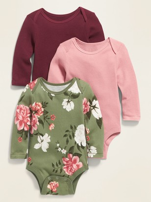 Old Navy Long-Sleeve Thermal Bodysuit 3-Pack for Baby