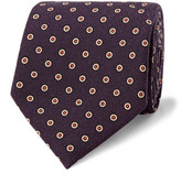 Dunhill 8cm Polka-dot Wool Tie