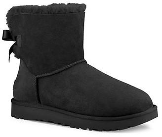 UGG Mini Bailey Bow II Suede Ankle Boots
